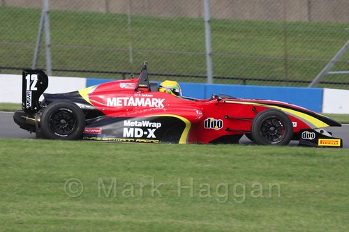 Chris Dittmann Racing's Tom Jackson in BRDC F4 race 3 at Donington Park, September 2015