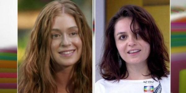 """Atrasada, Monica Iozzi aparece descabelada e sem maquiagem no """"Vídeo Show"""""""