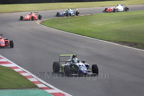 Max Fewtrell in British F4 during the BTCC Brands Hatch Finale Weekend October 2016