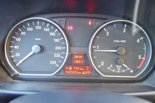 Notre compteur ne comporte que 3 chiffres, mais nous en sommes bien à 1849 km !