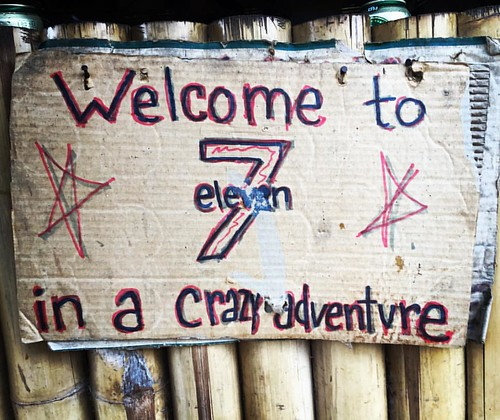 #Welcome to 7 eleven in a crazy #adventure  @ Maetaeng #Elephant #Camp #Jungle #ChangMai #Thailand  #thailoup #traveloup
