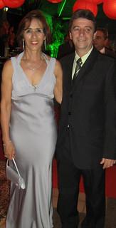 Fátima e Lauro Vilas Boas, presidente do Clube Morro do Pilar