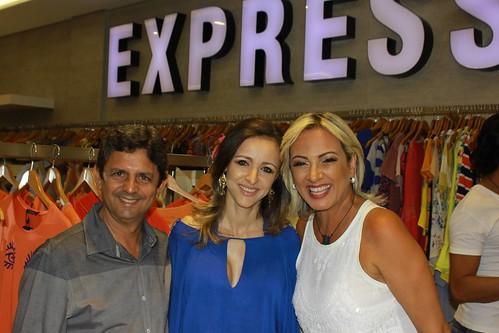 Célio Eduardo Oliveira e Du Ramos são recebidos por Flavinha Costa