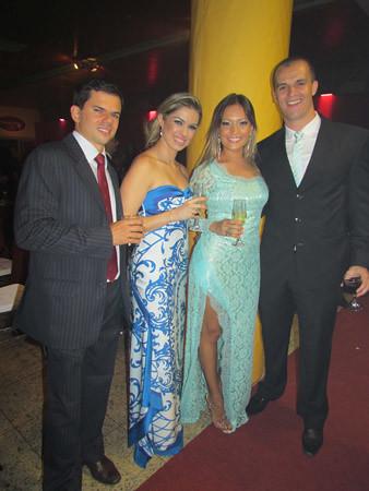 Adolfo Neto e Raquel, Fernanda e Rafael Assef