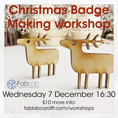 Our #Christmas #Badge #workshop on Wednesday still has some spaces! Check our #eventbrite for booking!