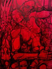 Giugno '05, tecnica mista su tavola, 2005
