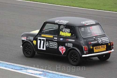 Brayden Fletcher in Mighty Minis at Donington Park, October 2015