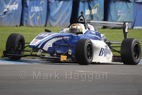 HHC Motorsport's Sisa Ngebulana in BRDC F4 at Donington Park, September 2015