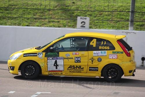 James JJ Ross in Fiesta Racing at Rockingham, Sept 2015