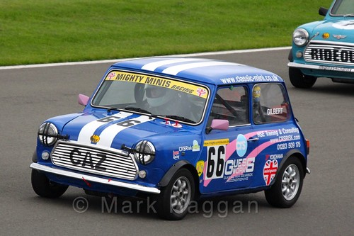 Caroline Gilbert in Mighty Minis at Donington Park, October 2015