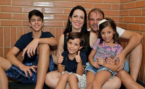 Bernardo, Renata, Túlio, Marcela e  Marcela