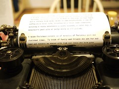 Christmas Letter in Typewriter