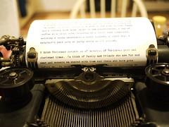 Christmas Letter in Typewriter
