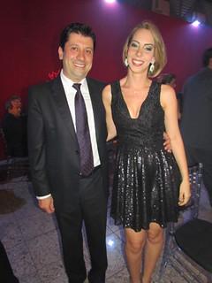 O  diretor da Fundação São Francisco Xavier, Lúis Márcio, com Adriana