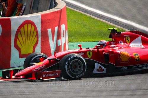Kimi Raikkonen in qualifying for the 2015 Belgium Grand Prix