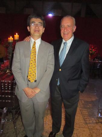Nobuhiro Yamamoto, VP Planejamento Corporativo da Usiminas e Daniel Novegil, CEO da Ternium
