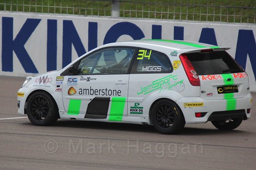 Michael Higgs in Race 2, Fiesta Junior Championship, Rockingham, Sept 2015