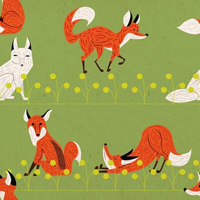pattern raposas