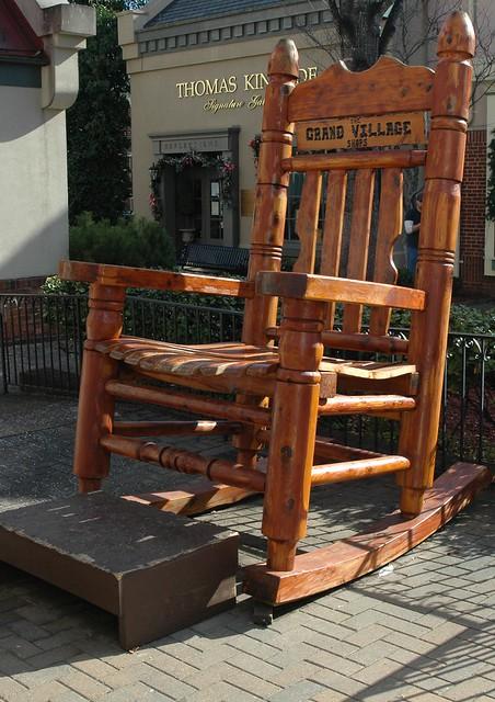 Oversized Wooden Rocking Chair 2 Crop  Flickr  Photo