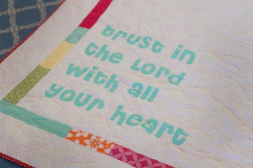 Trust in the Lord Quilt