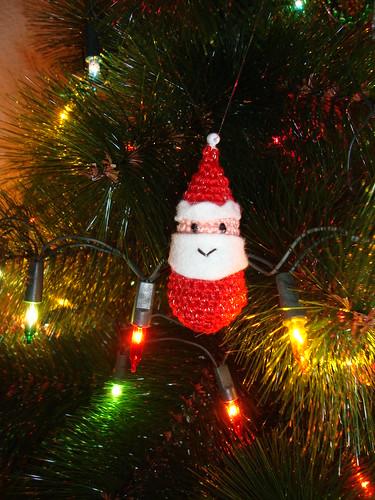 Papa noel de crochet - Adornos y manualidades navideñas