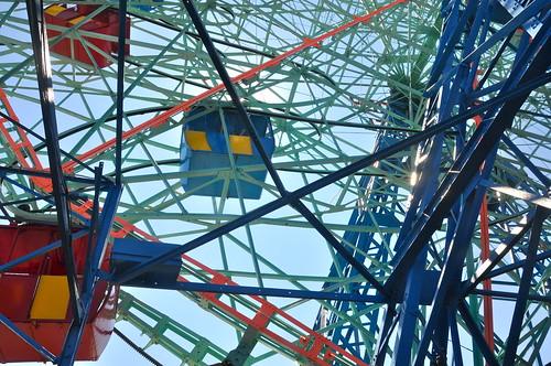 Wonder Wheel from below