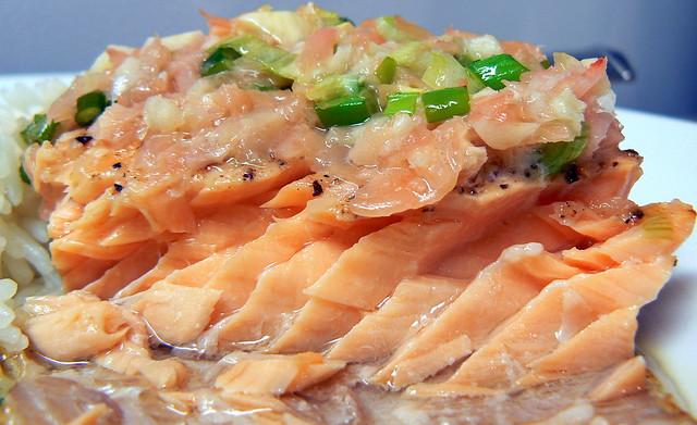 Ginger-Scallion Crusted Salmon
