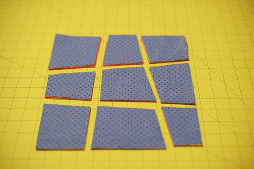 Cutting the crazy 9 patch squares