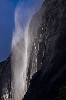 Wind Cyclone Up Horsetail Fall