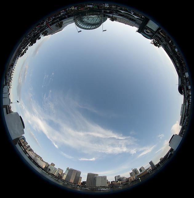 Fisheye sky