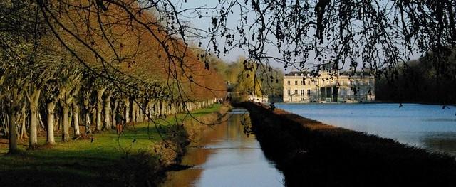 château du Marais : perspective du grand canal.