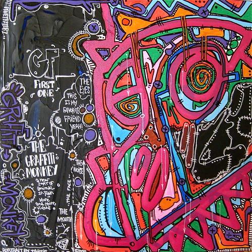 The Graffiti monkey by Tarek by Pegasus & Co
