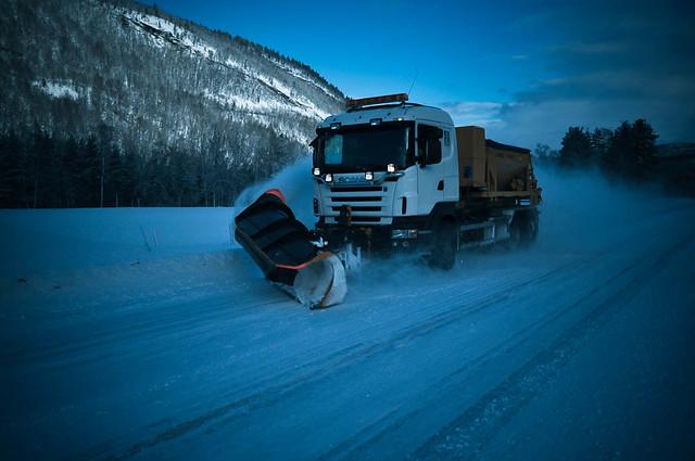 Snowplough in Nordland