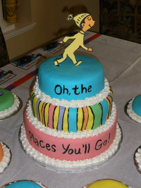 Graduation Cake  Dr Seuss Oh the Places Youll Go  clo  Flickr