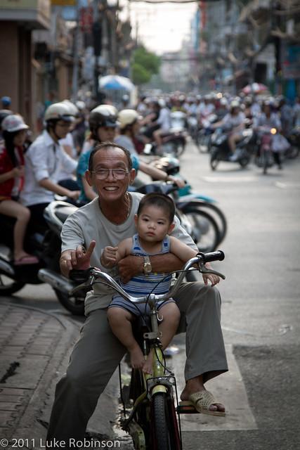 Granddad shows Junior the wheels, Chinatown