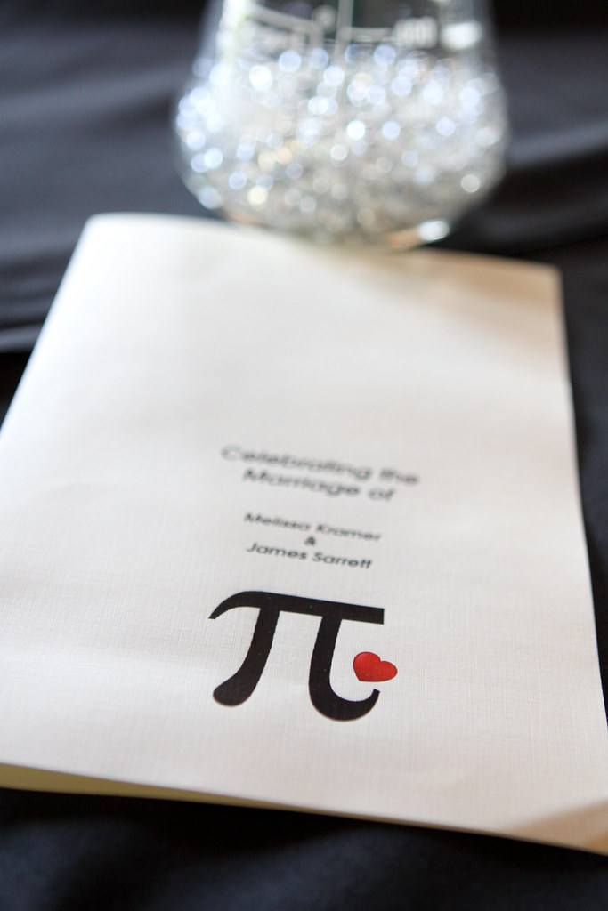 James & Melissa's Pi Day wedding