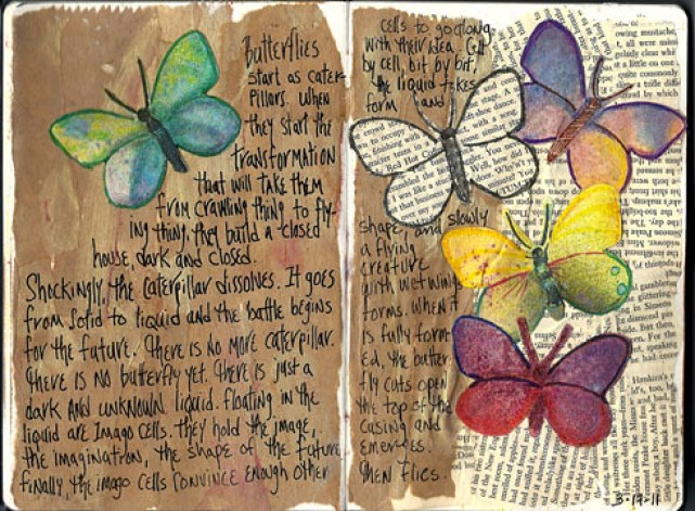 Journal Page:butterflies