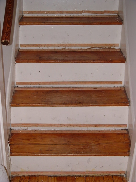 Ask Old Town Home How Should We Handle Our Old Stairs Old   Best Wood For Stair Risers   Hardwood Flooring   Paint   Stair Tread   Spindles   Wooden Stairs