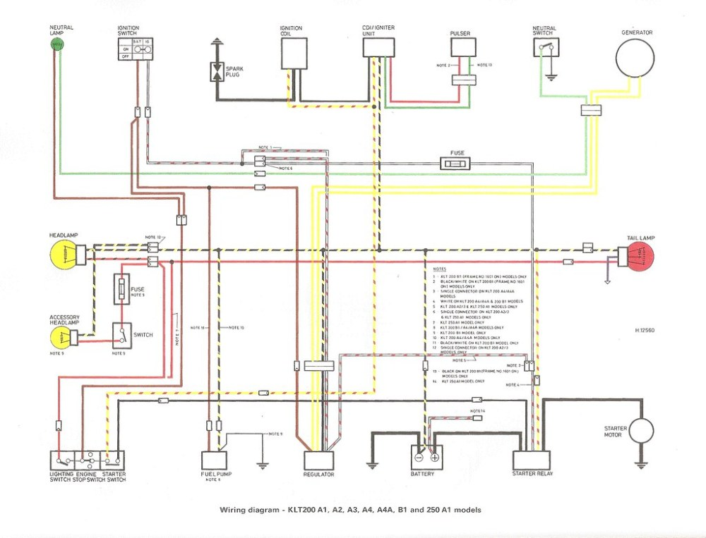 medium resolution of electrical wiring of kawasaki klt200 wiring diagram today200 topkick headlight switch wiring diagram 15