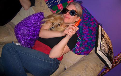 20110306 0311 - GEDC0085 - Carolyn - goggles, toy gun