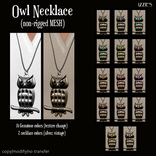 Owl Necklace (mesh)