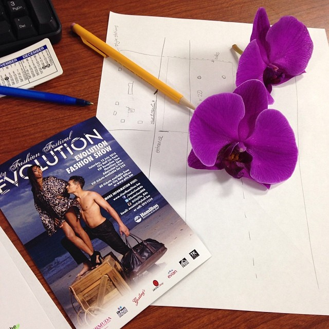 Pretty flowers & fashion layouts #cityfashionfestival #evolution2014 #lifeinevents