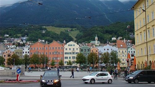 A lovely view of the town of Innsbruck, Austria