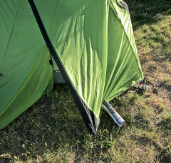 At 400 AM Our Tent Was Hit With The Sunday Papaer - Great American Backyard Campout