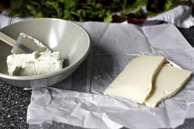 two goat cheeses