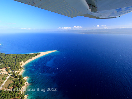 Zlatni rat beach...from the air