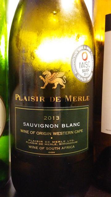 Plaisir de Merle Sauvignon Blanc 2013