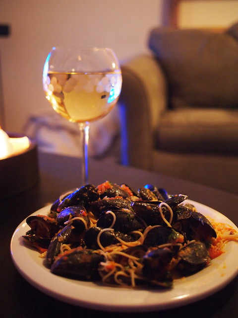 Dinner: Steamed Mussels