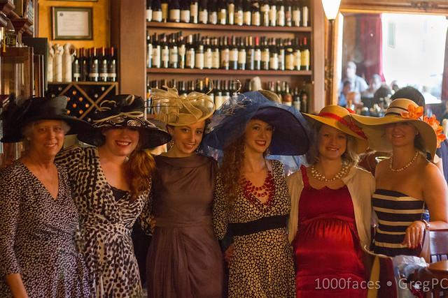 Six Women in Hats