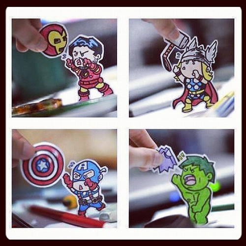 so much cuteness ! #grabbedfromFB #avengers #memes #instamood #ig #igers